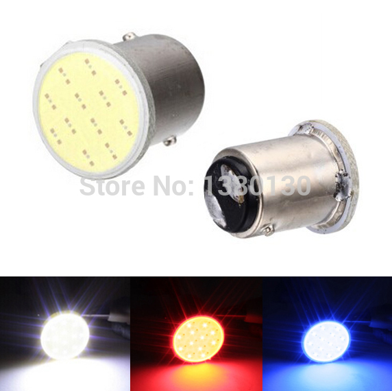 1 PCS P21/5W 1157  COB 12v  Auto led Car RV reactive Bulbs rear Turn signal lamp Brake Parking lights Brake Tail blue White red