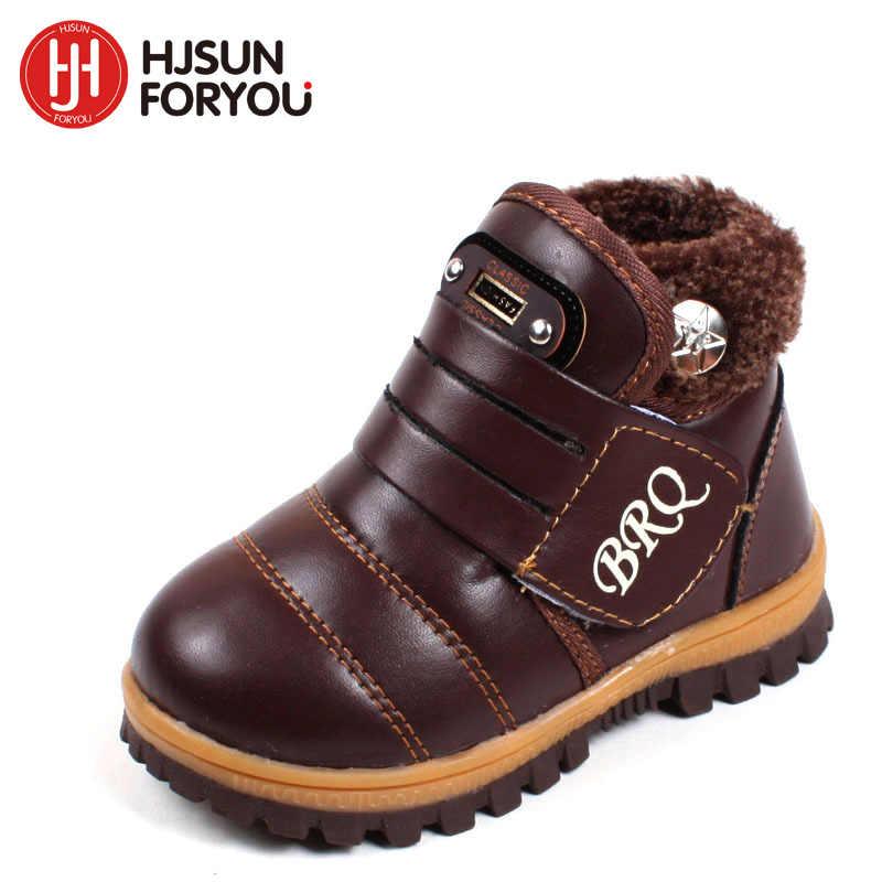 2019 ใหม่เด็กหิมะรองเท้าอุ่นหนาเบาะหิมะรองเท้าเด็กชายหญิงรองเท้าหนังฤดูหนาวรองเท้าสบายๆรองเท้าเด็ก