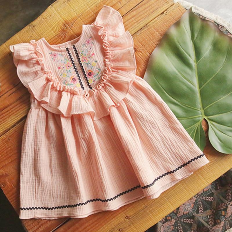 Little Girls Dresses 2018 Boho Cute Children Dress 6 Years Tiny Cottons Kids Clothes Girl Summer Dress For Girl Costume Vestidos girl