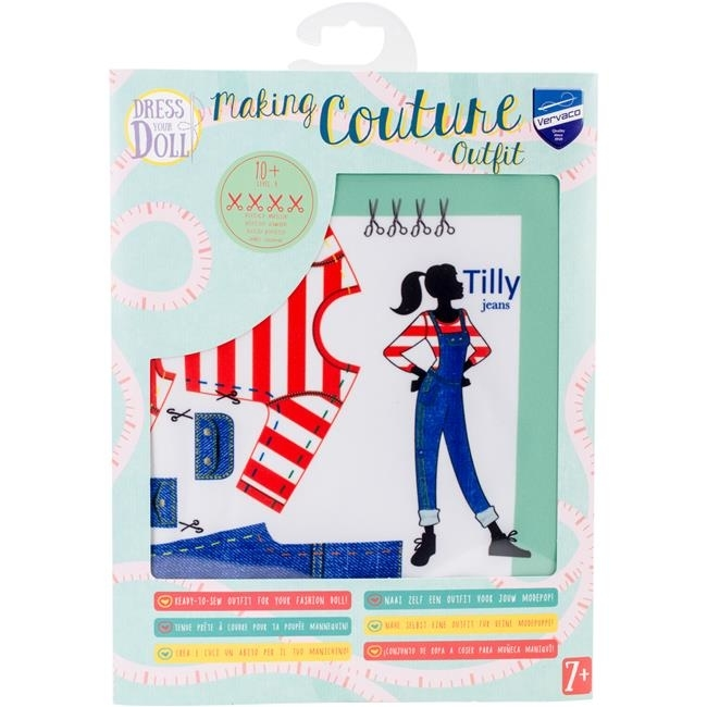 Vervaco V0164668 Dress Your Doll Making Couture Outfit Set - Tilly Jeans tilly mint tales