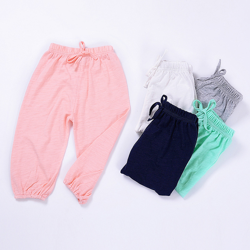 Harem Pants Joggers Trousers Boys Baby-Girls Solid-Color Lantern 1-5year Kids Children