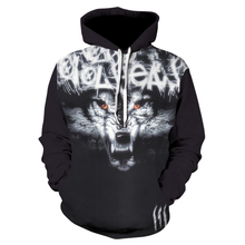 Plus Size Wolf Hoodies 3d Print Animal Mens Hoody Sweatshirt Alisister Hip Hop Unisex Pullover With Big Pockets Tops