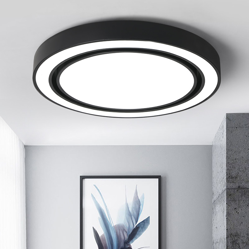 Circular Modern LED Ceiling lights For Living Room Study Room Black/ White bedroom Glow LED Ceiling lights Lighting fixture qsyc modern eye protection led floor lamp dimmable stand lights living room study reading lighting led fixture white