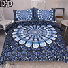 DHD Bohemian Bedding Set Queen Size 3Pcs Mandala Duvet Cover Set Twin Full Queen King Home