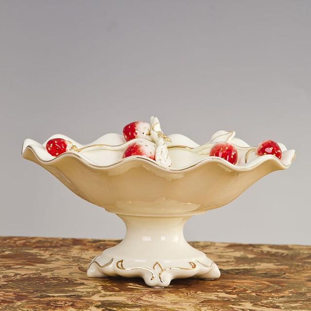 Innovative Erdbeere Skulptur Keramik Kompott Obst Tablett ...
