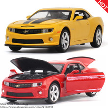 Double Horses 1:32 free shipping Chevrolet Camaro Alloy Diecast Car Model Pull Back Toy Car model Electronic children Kids Toys