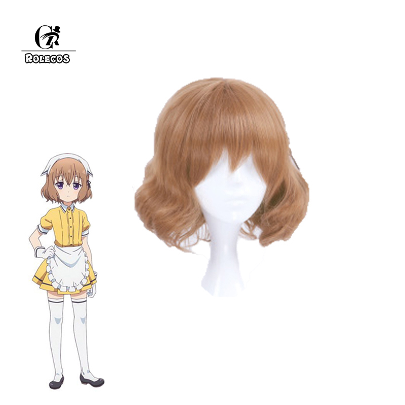 ROLECOS Blend S Anime Cosplay Headwear Mafuyu Hoshikawa Synthetic Hair Stile Cafe Sadistic Japanese Anime Cosplay Short Hair