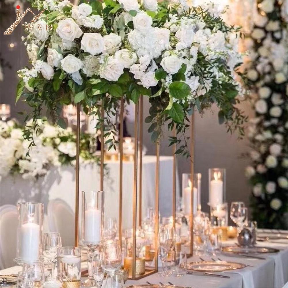 80cm Tall Wedding Flower Vase Metal Trumpet Vase For: 80cm Tall Wedding Metal Flower Vase Gold Flower Stand
