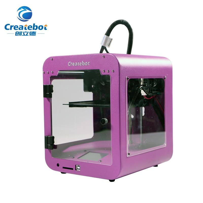 цены Createbot Newest Super Mini 3D Printer Touch Screen Popular Shape Metal Shell 3d printer with Favorable Price