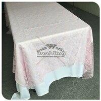 Красная кружевная прямоугольная скатерть для свадебного банкета отельный Настольный чехол вечерние принадлежности домашний текстиль - Цвет: Pink
