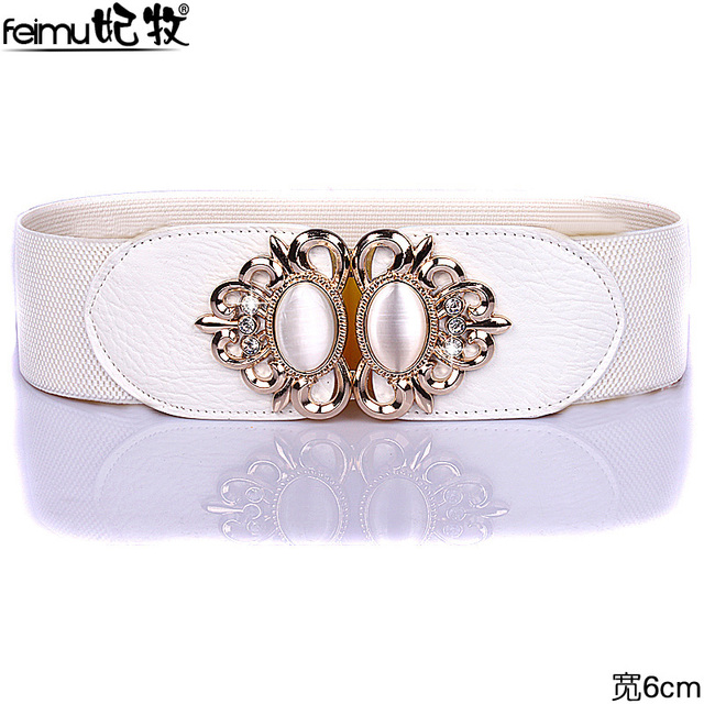 Senhora Cinto de Todos Os Jogo de Cinto de Diamante de Alta Cintura Elástica Saia Vestido Coreano Mulheres Decorativo Para Baixo Casaco Cintura B-4025