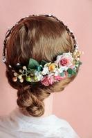 Rose Flower Wreath for Women Girl Wedding Bridal Artificial Flower Crown Head Tiara For Hair Floral headband Hair accessories
