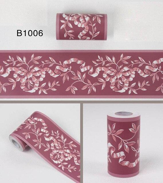 10Meters Self Adhsive PVC Wallpaper border Home Decor Waterproof Kitchen Wall Skirting Bathroom ...
