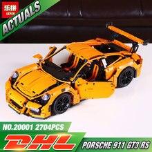 LEPIN 20001 série technic 911 GT3 RS Modelo Kits de Construção de Blocos de Tijolos Brinquedos Do Menino Compatível Com 42056