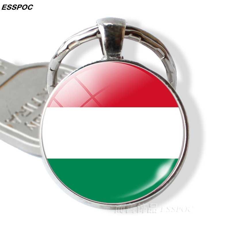 Страны Центральной Европы брелок для ключей «флаг» Германия Польша Швейцария Австрия венгерский флаг стекло кабошон кулон металлический брелок подарок