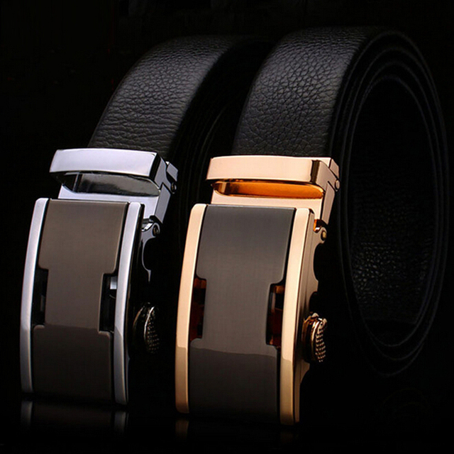 [TG]New Arrival Waistband Brand Belt High Quality Genuine Leather Automatic Buckle Men's Belt Cowskin Belts for Men