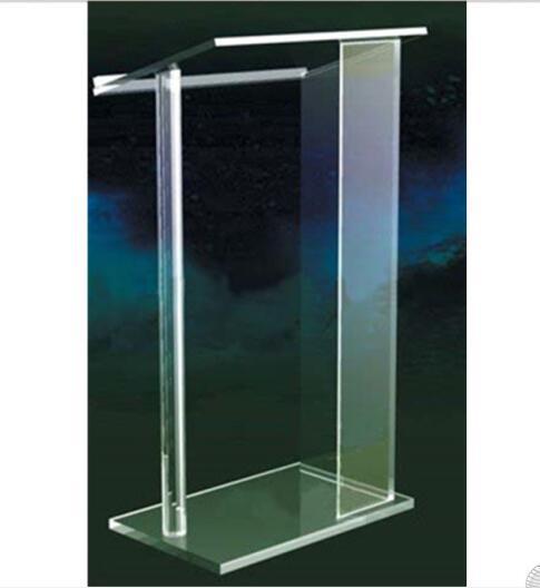 High Quality Acrylic Pulpit Church Platform Clear Acrylic Church Podium Modern Design Acrylic Pedestal Podium Perspex Lectern