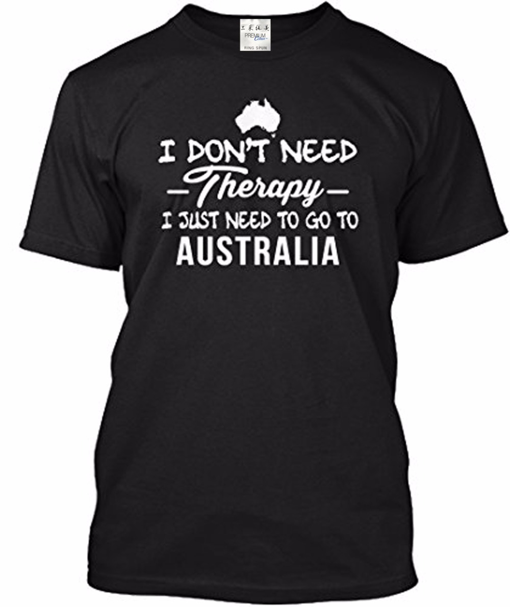 Design t shirt online australia - Unisex Therapy Australia Tagless T Shirt T Shirts Short Sleeve Lady Top Shirts Design Tops Novelty