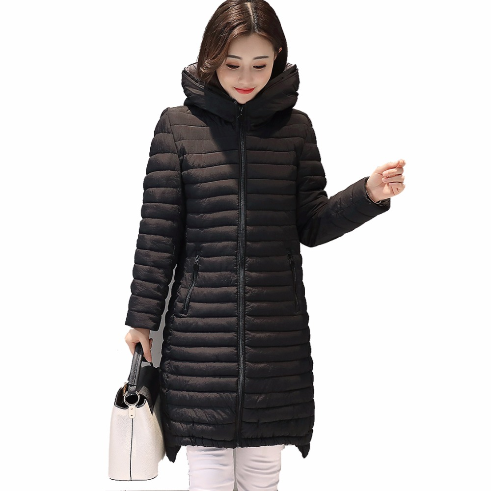 New Korean version 2017 fashion winter jacket women Slim long feather cotton clothing Parkas women winter plus size S-5XL pregnant women dress new fashion korean version fall