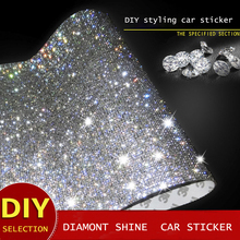 E-FOUR Car Drill Decoration Sticker Diamond Sharp Cutting DIY Interior Stick Ornament Styling Modification Accessories Cars