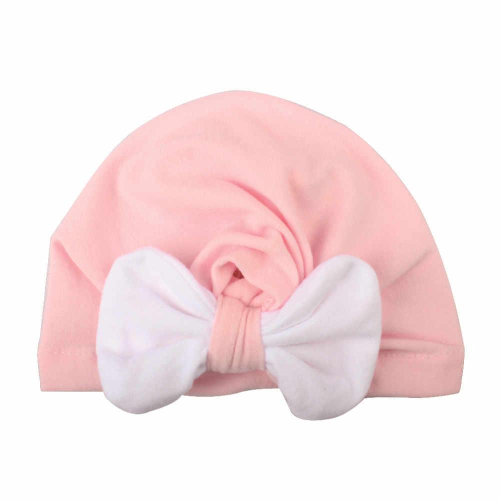 ใหม่เด็กทารกหมวกหมวกหมวกเด็กแรกเกิดการถ่ายภาพ Props คริสต์มาส Knotted เด็กฤดูหนาวเด็กหมวกเด็กทารกหมวกเด็กแรกเกิด bonnet