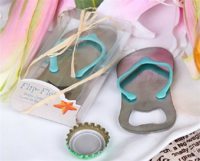 64bd62aa985a Hot Sale 200pcs  lot Flip flop wine bottle opener with star fish design wedding  favor guest gift bottler opening tool on sale-in Openers from Home   Garden  ...