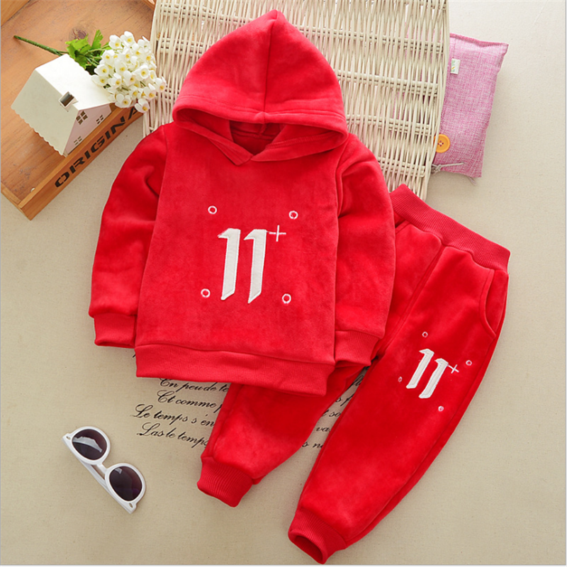 Thicken Baby Boys Girls Children Sets 2017 Winter Cartoon Animal Hooded Coat +  Pant 2 Pcs Girls Sets Cotton Kids Clothes 3cs040 baby boys sets cartoon dinosaur animal shapes children s clothing spring fall flannel coat with hood pants kids wear 0 2 yrs