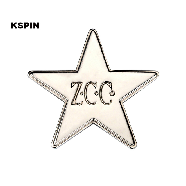 Zcc Star Badge Pin 100pcs A Lot In Badges From Home Garden On
