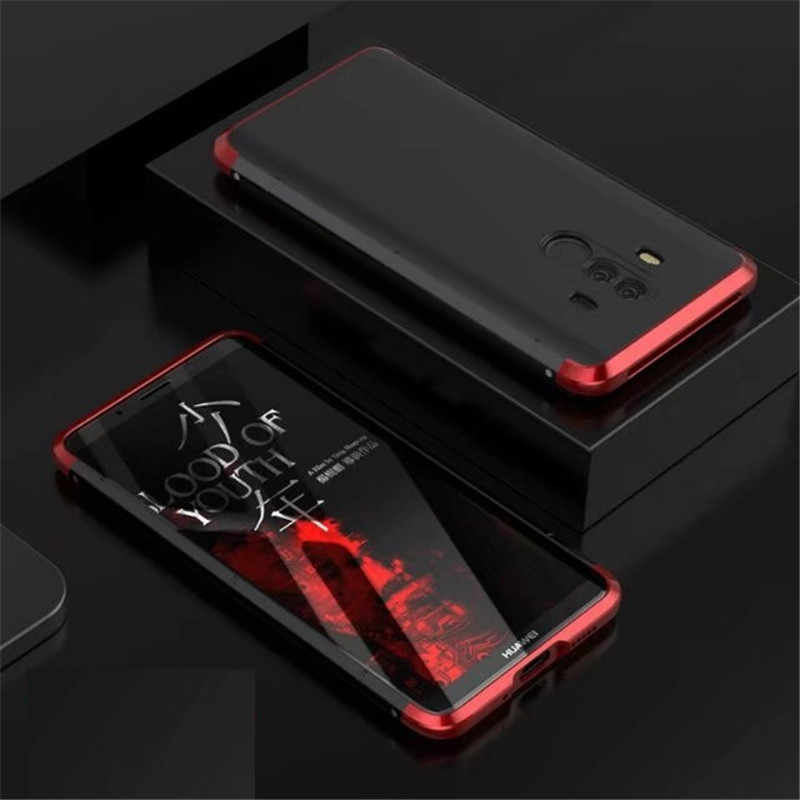 Luxury Original Brand Bobyt Aluminum Metal Frame + Pc Hard Armor Anti-knock Back Cover Cases For Huawei Mate 10 Pro Case