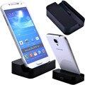 Черный Micro USB Док Колыбели Зарядное Подставка для Зарядки Держатель Телефона Для Samsung Galaxy S7 Edge S6 G9200 S5 i9600 S4 i9500 Примечание 5 4 3