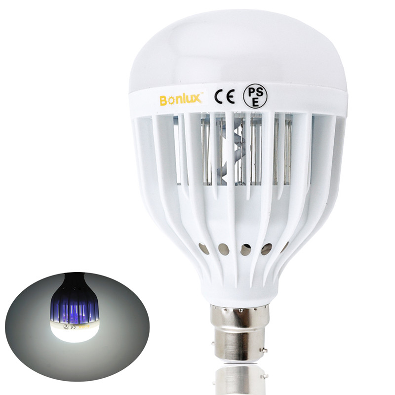 LED Bug Zapper Light Bulb 10W Mosquito Killer Bulb B22 Wasp Bug Mosquito Flying Insects LED UV Lamp