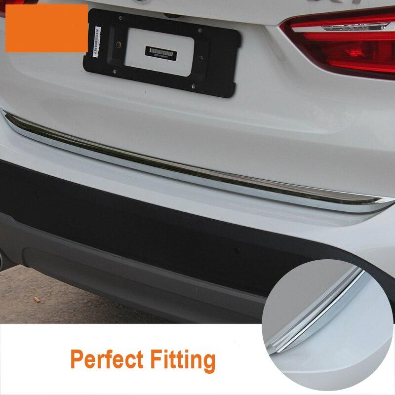 Couvercle de coffre arrière en CHROME ABS garniture de hayon pour BMW X1 F48 2016 2017 2018 2019 accessoires de voiture