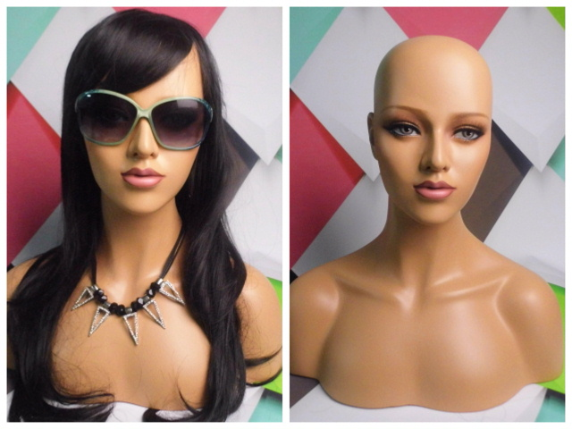 Female Realistic Mannequin Head Sale For Wig Hast And Jewelry Display