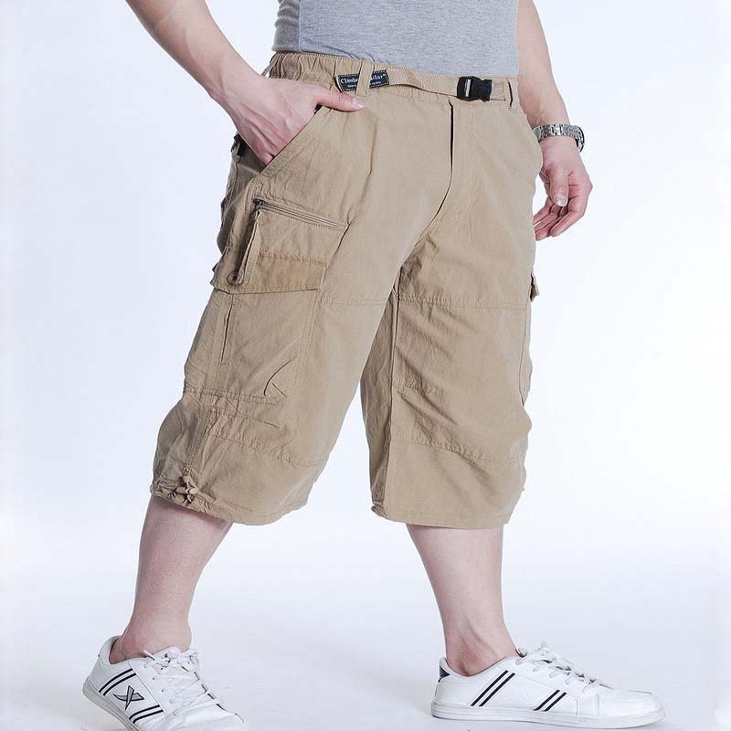 6XL 7XL Summer Casual Shorts Men Cotton Cargo Shorts With Big Pocket Loose Baggy Hip Hop Shorts Bermuda Military Male Clothing