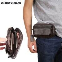 100% Genuine Leather Waist Bag for iphone/Samsung Smart Phone Shoulder Bag Belt Pouch for Below 6.5inch Mobile Phones Case