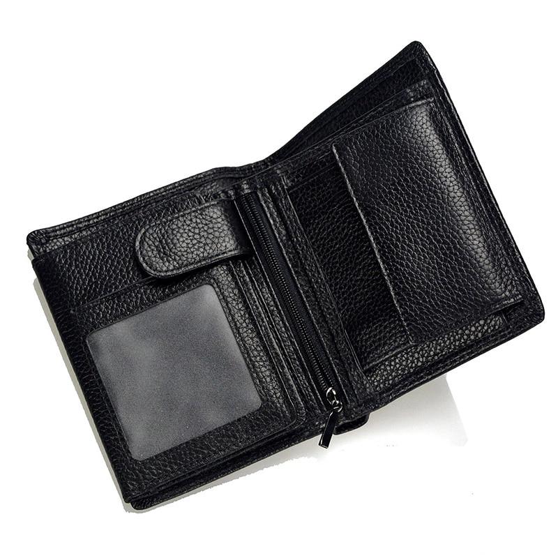 LACHIOUR RFID-blockering män äkta läder plånböcker koppling - Plånböcker - Foto 2