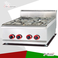 PKJG-GH587 Counter Top Gas Stove/4 stoves, for Commercial Kitchen