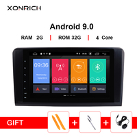 2 din Car Radio GPS Android 9.0 NO DVD Multimedia Player For Mercedes Benz ML W164 ML300 GL X164 GL320 350 420 450 500Navigation