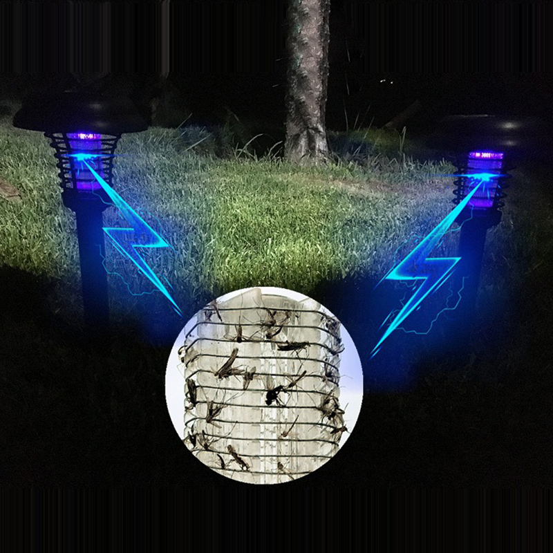 Solar Mosquito Killer Lamp Rechargeable Battery Garden Decoration Fairy Lights Waterproof LED Outdoor Mosquito Light akdsteel solar mosquito killer lamp waterproof light sensor solar powered high quality led mosquito killer lamp decoration