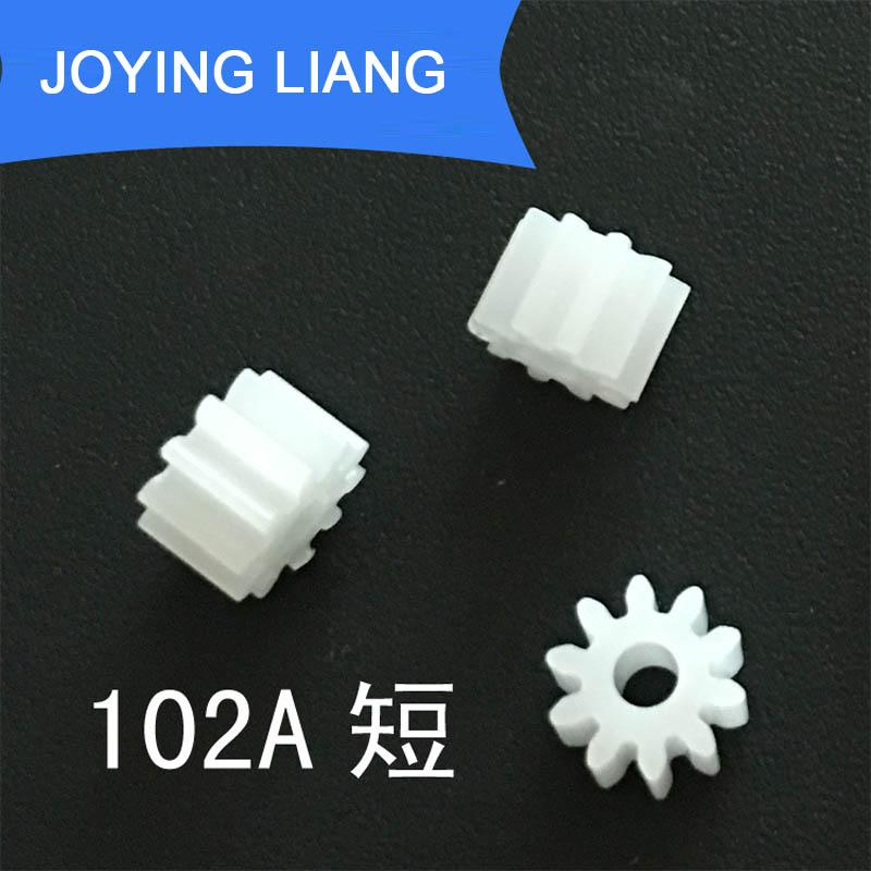 102A Short Module 0 5 10 Teeth 2mm Shaft Tight Pom Plastic Gear Toy Model Gear