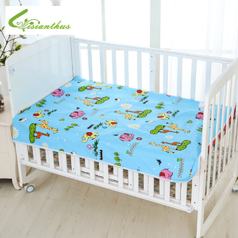 120*80cm Babys Urine Pad for Newborn Baby Diaper Reusable Durable 3 Layers Waterproof Urine Mat Cover Changing Pad for Crib
