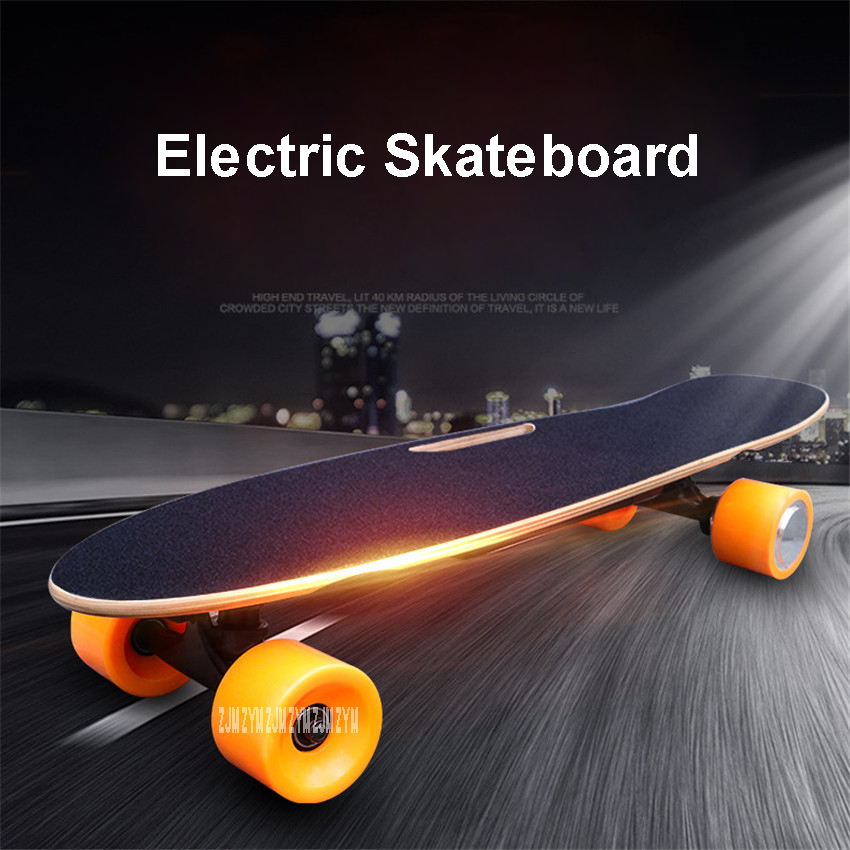 Four 4 Wheel <font><b>Electric</b></font> Skateboard With Remote Control Adult <font><b>Scooter</b></font> Wood Longboard Fish Skate Board Hoverboard 10km/15km Mileage image