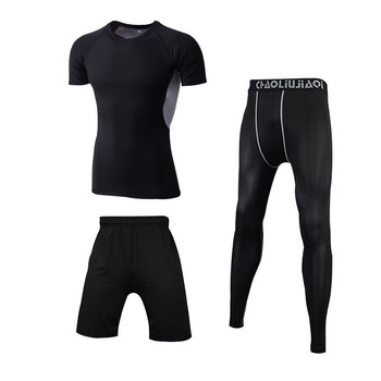 Men Sportswear Compression Sport Suits Quick Dry Running Sets Clothes Sports Joggers Training Gym Fitness Tracksuits Running Set 21