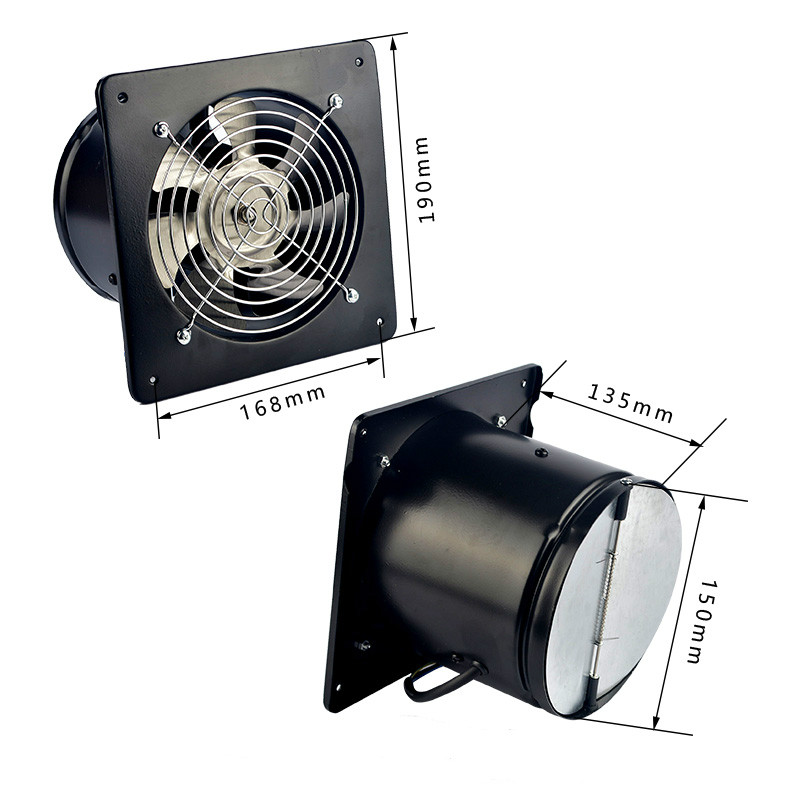 FEIYUE exhaust fan Kitchen fumes Exhaust fan Exhaust fan Wall type Strong high speed Ventilation fan 6 inch