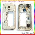 Original Carcasa central Medio Bisel Plate Frame Para Samsung Galaxy S5 mini Caja Con Cámara De Vidrio + Botón Lateral Clave