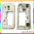 Original middle Housing Middle Bezel Frame Plate For Samsung Galaxy S5 mini Housing With Camera Glass +Side Button Key