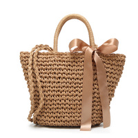 2017 Female Small Mini Cute Sweet Summer Beach Bag Handbag Shoulder Messenger Woven Straw Bag Wholesale