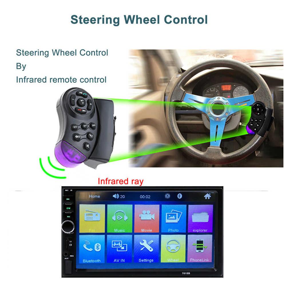 """Podofo 2 Din Автомобильная Радио Bluetooth 2din автомобильный мультимедийный плеер 7 """"HD сенсорный Авторадио MP5 USB аудио стерео с камерой заднего вида"""