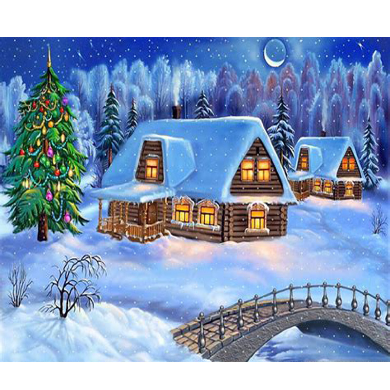 diamond embroidery beautiful christmas scenes picture of diamonds 100 full square set for embroidery stitch for baby room decor in diamond painting cross