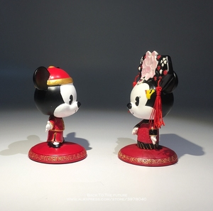 Image 3 - Disney Mickey Mouse Minnie Marry Chinese style 7 9cm Action Figure Anime Decoration Collection Figurine Toy model for children